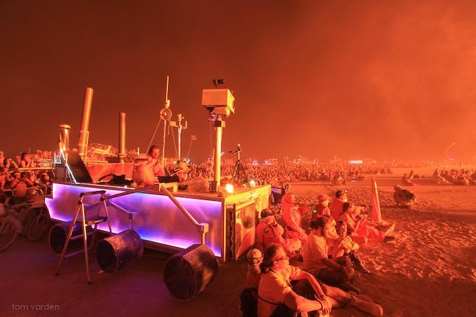 MRAC broadcasting the burn back to Earth.