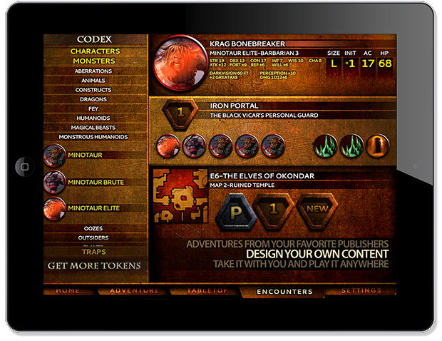 Drag and drop tokens from the Codex to rapidly build encounters. Customize tokens to YOUR particular game system!