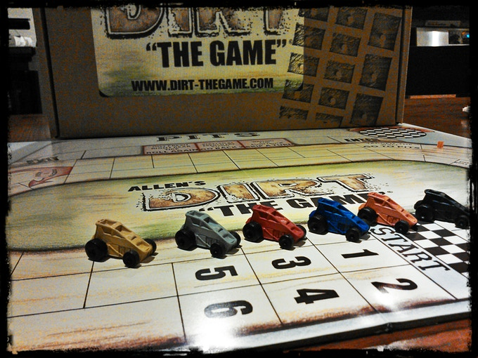 Game pieces, board and box.