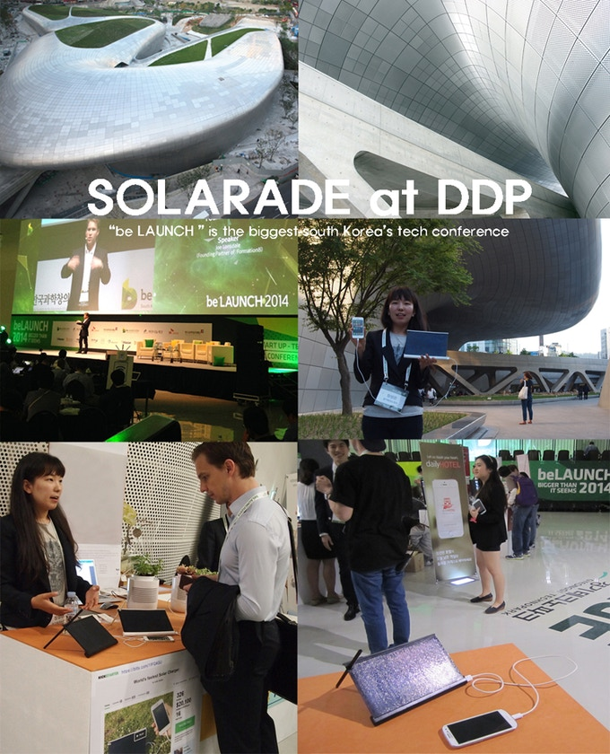 "SOLARADE participated at ""be LAUNCH"" the biggest tech conference in South Korea."