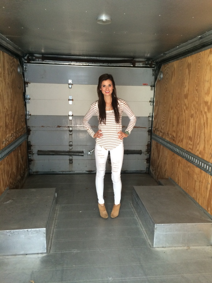 With your help, I could be standing in a sparkly new kitchen, instead of an empty truck!