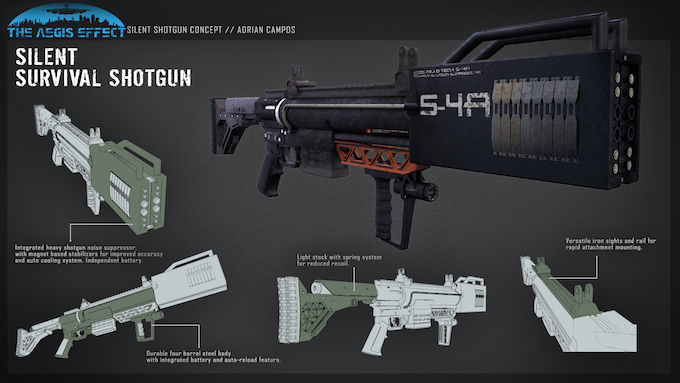 Extensive weapon customization is just one of the many great features in The Aegis Effect
