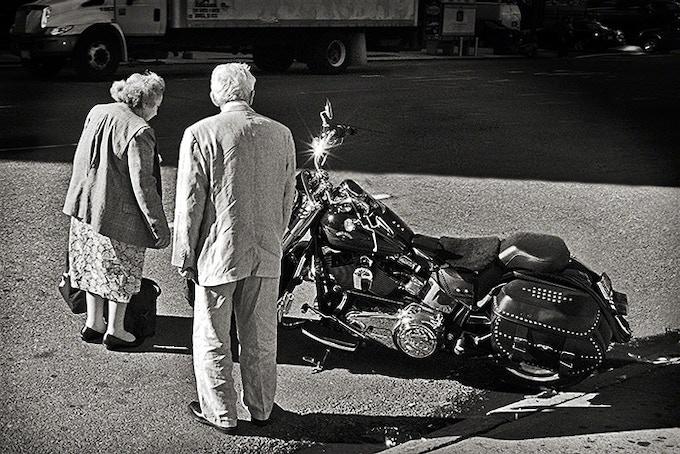 Senior Bike Admirers, New York City, 2008 (pg 129)