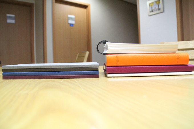 The Magnote set   VS   Existing notebooks, planners