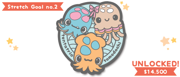 Yay! All $25+ backers now get an enamel pin featuring the tentatrio~
