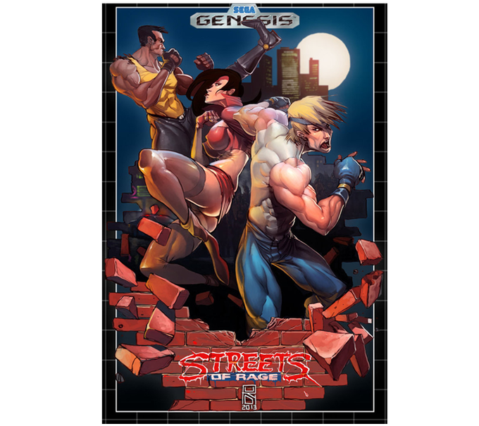"This is a work of fanart, ©Wilde Rudy. ""Streets of Rage"" is the property of Sega ©1991"