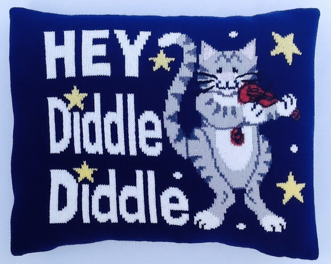 Hey Diddle Diddle, The Cat & The Fiddle Pillow
