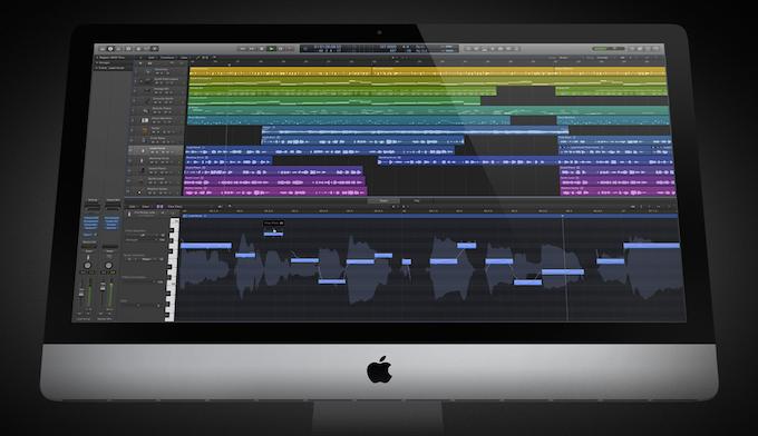 Logic Pro X on an iMac