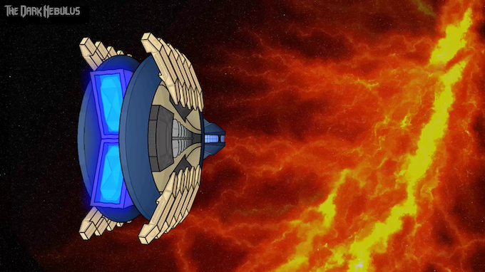 The Enidion approaches the Dark Nebulus.