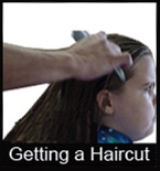 "One of the Images from the ""Getting a Haircut"" picture pack. This image is also found in the video modeling tool and in the social success story."