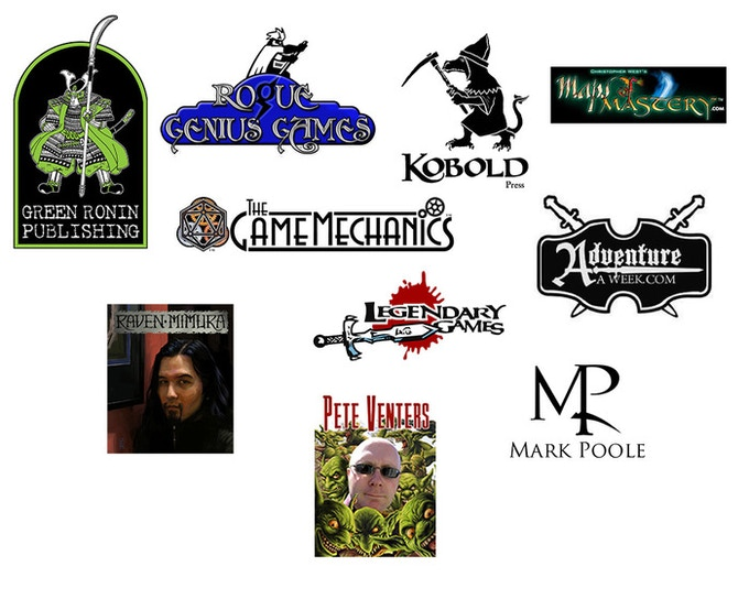 Just some of the publishers, Illustrators, and Cartographers you'll find in IRON ATLAS!