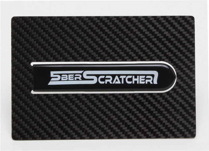 Entry level supporter reward: genuine carbon fiber backer-plaque (photography by Martin Lyon, Los Angeles)