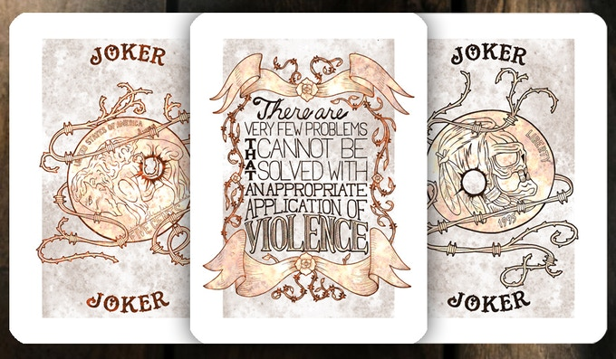 Jokers and Art Card - Rusted Tin