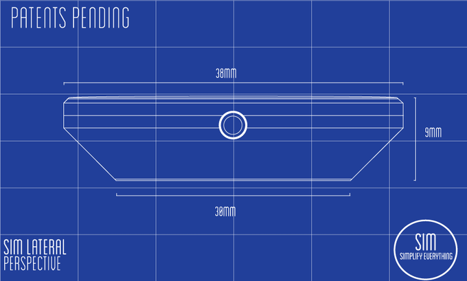Sim's early Blueprint detailing its case and crown. Our philosophy: keep it thin!