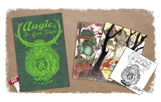 Augie and the green knight a childrens adventure book by zachary signed bookplate kickstarter exclusive limited cloth cover with green foil stamp dust jacket prints ebook the above tier plus a signed bookplate fandeluxe Document
