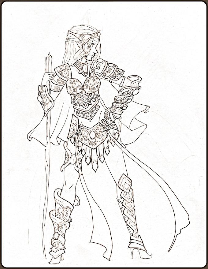 FantasyCon Concept Sketch