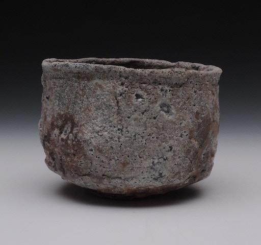 #12. Natural Ash Glazed/Ember Buried Tea Bowl  ($162)