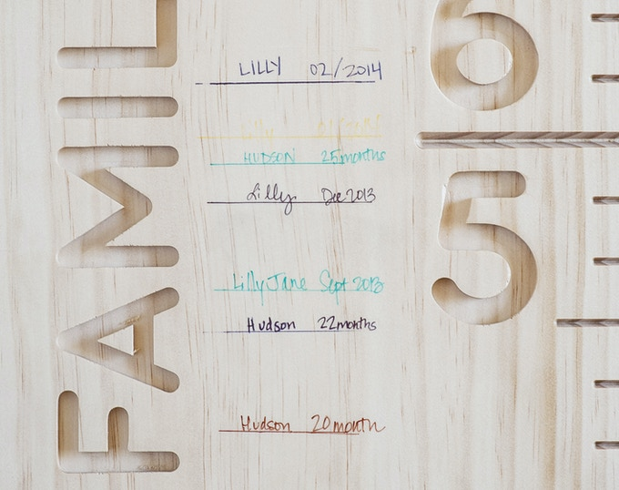 Writing Detail / Radiata Pine Board / Sant Joan Despi Font / Unfinished Prototype