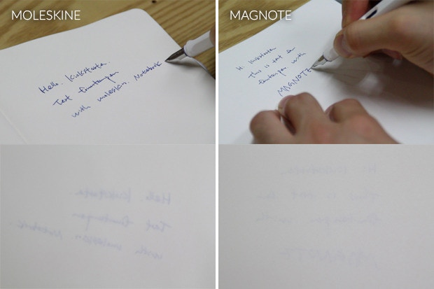 Moleskine vs Magnote : A fountain pen writing test