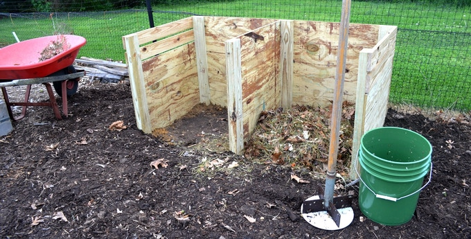 The side-by-side compost bin with The Compost Chopper system. (see $10 pledge)
