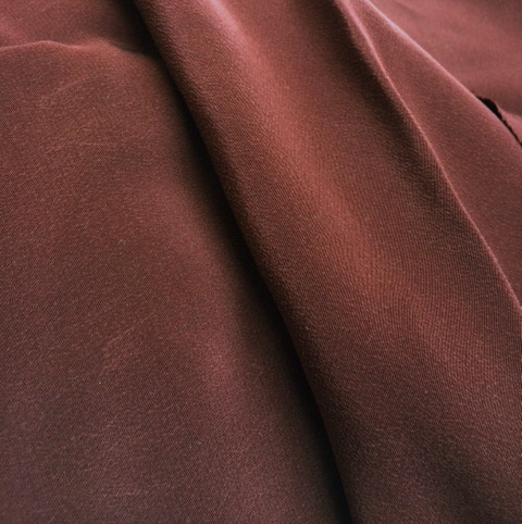 Silk Crepe-de-Chine in Wine