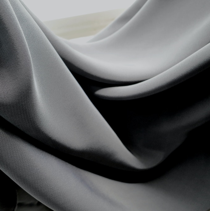 Italian Viscose in Black