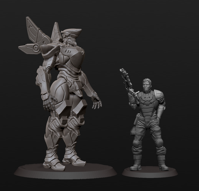 Dragon (WIP). It's next to a fusilier model included in The Council starter pack.