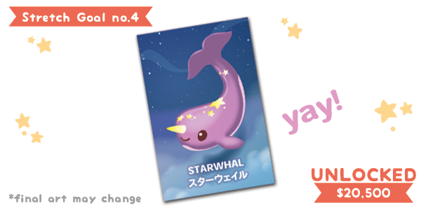 The final character card: Starwhal! All $25+ reward tiers will receive this card.