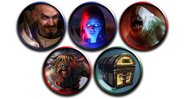 Monsters! Player Characters! Loot! Some examples of the high-quality tokens we have in mind that you'll find in IRON ATLAS!