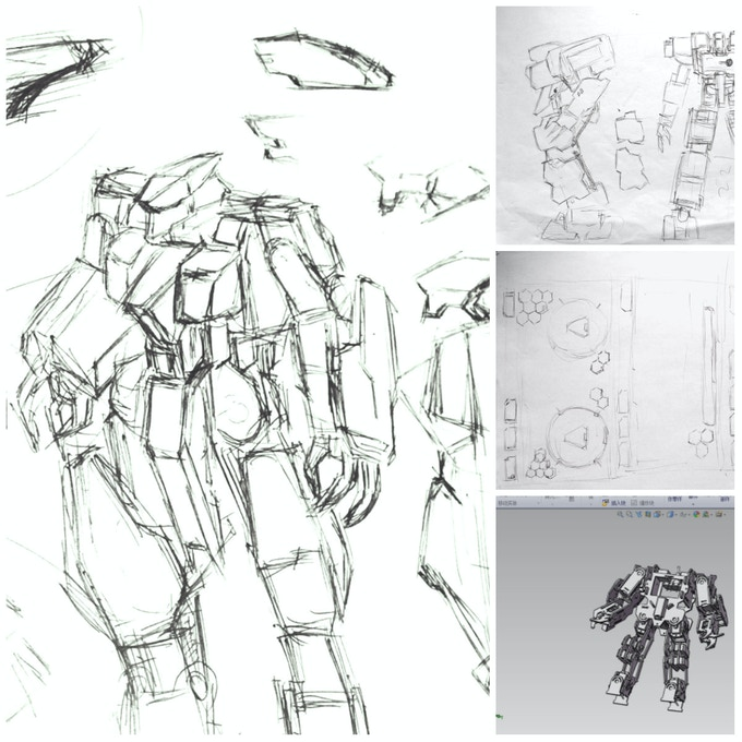 Sketches and 3D Models