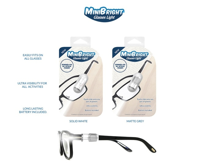 The Mini Bright Glasses Light Gives Perfect Light For Reading & Writing