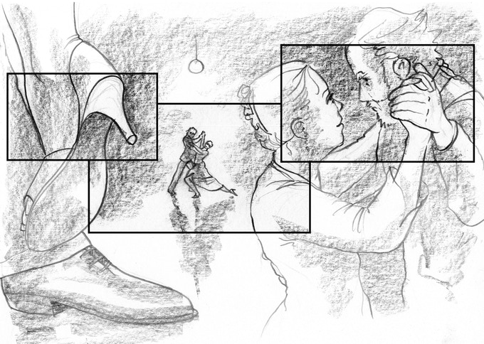 Storyboards of One Last Dance