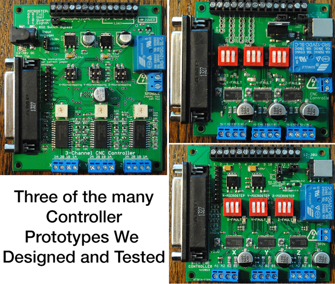 We designed and tested many different combinations of controllers, motors and drive systems until we came up with the best combination for speed, power and accuracy.