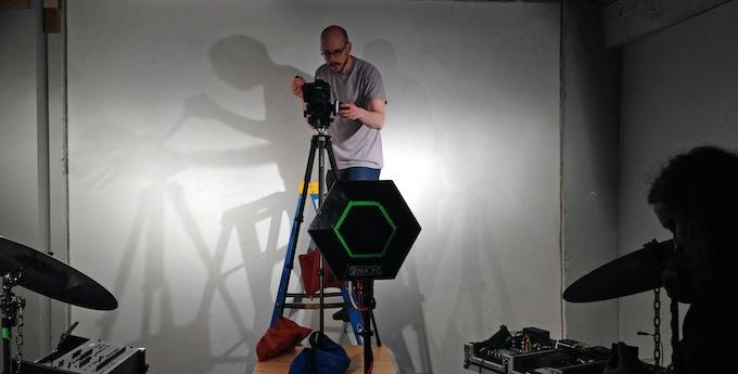 Adam Cornelius setting up a complex shot.