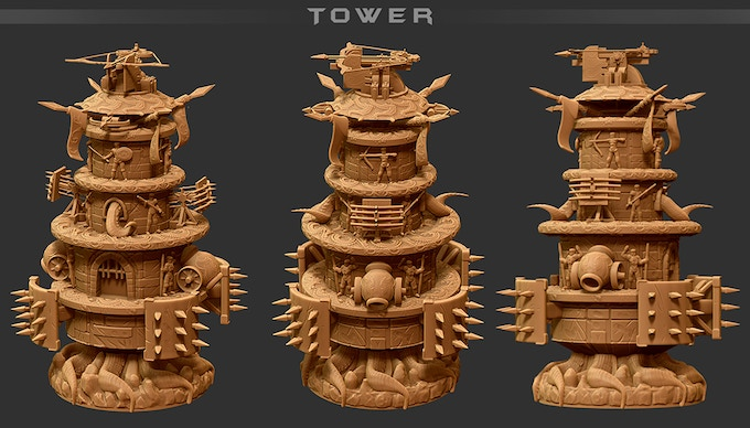 A 3D model mockup - final miniature may differ slightly.
