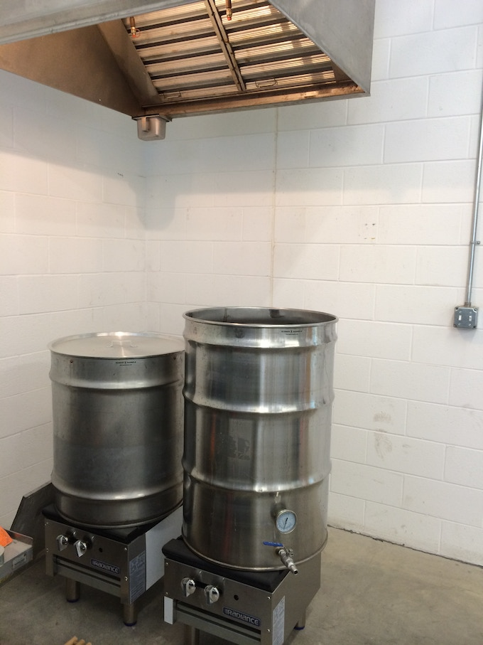 Our Boil kettles at the Brewery