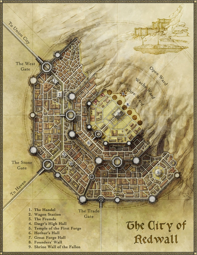 The City of Redwall, by cartographer Jon Roberts
