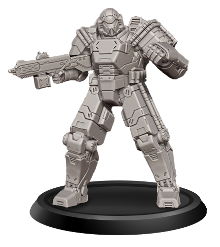 The NorTec Ajax Miniature stands 38mm tall.