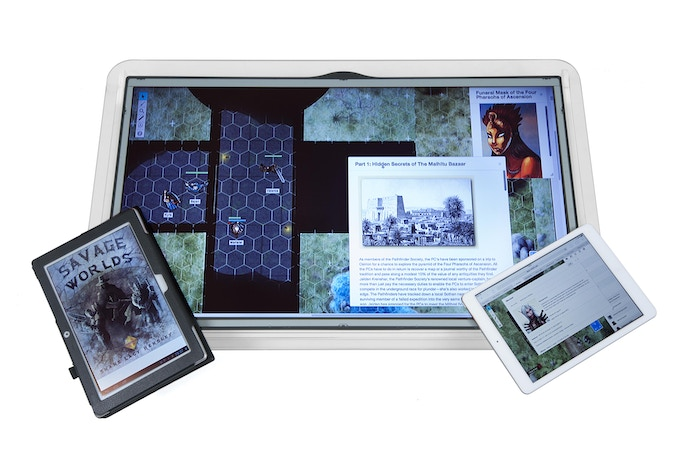 GameChanger - Virtual Gaming Surface (shown with Roll20)