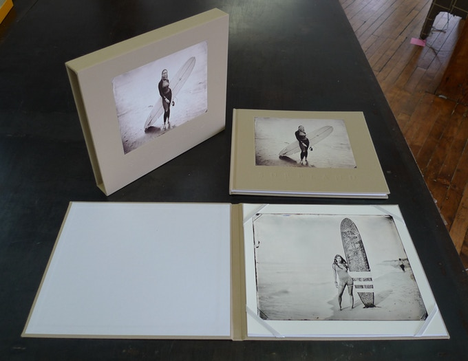 Limited edition Surfland book with Valerie print in folio and slipcase