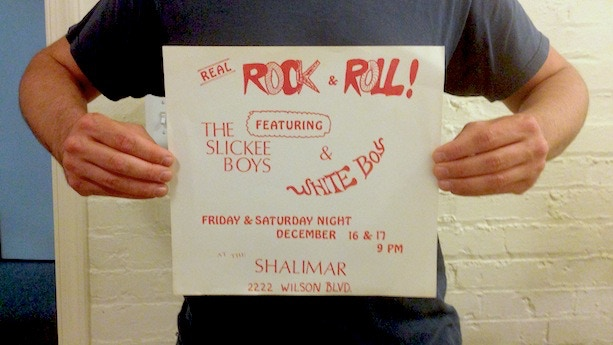 """""""Real Rock & Roll"""" Slickee Boys / White Boy two night show flyer (11 1/4"""" X 10 1/2"""") from the personal collection of Marshall Keith. Below is a video which talks more about that legendary show."""