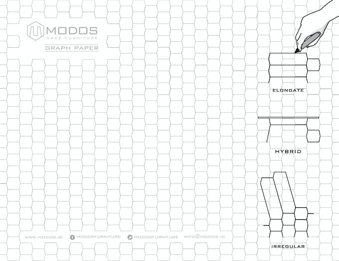 Modos Graph Paper, click to download. Quickly draw your custom DIY shelf.