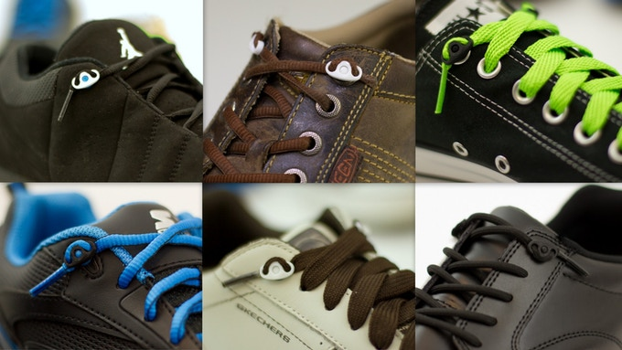 Shnap laces on any style of shoes with eyelets