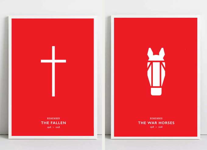A pair of limited edition A2 screen prints available: Remember The Fallen | Remember The War Horses