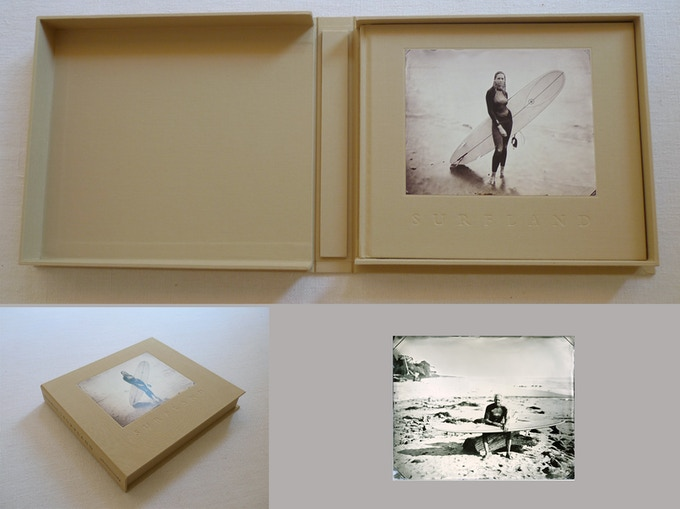 """Deluxe edition of Surfland with a unique 8x10"""" tintype in a clamshell box, image Renny"""