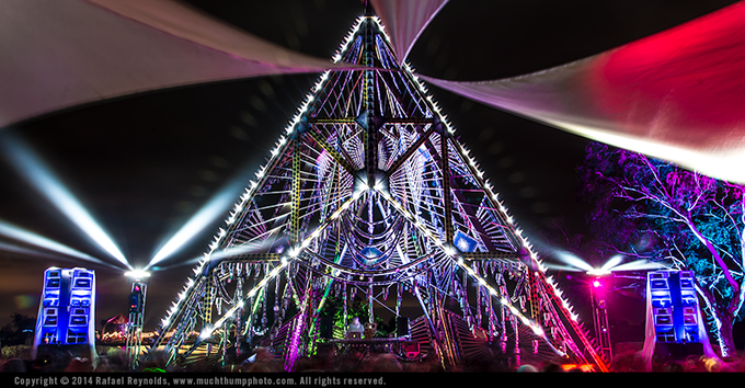 Empire of Love stage at Symbiosis festival.
