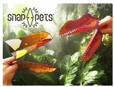 Dinosaur Snappets: Paper hand puppets you build yourself!