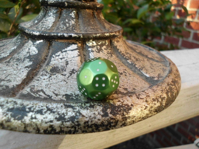 Anodized Green d(4X6) Atomic Dice