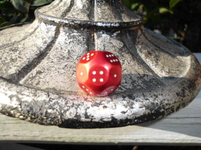 Anodized Red d(3X6) Atomic Dice