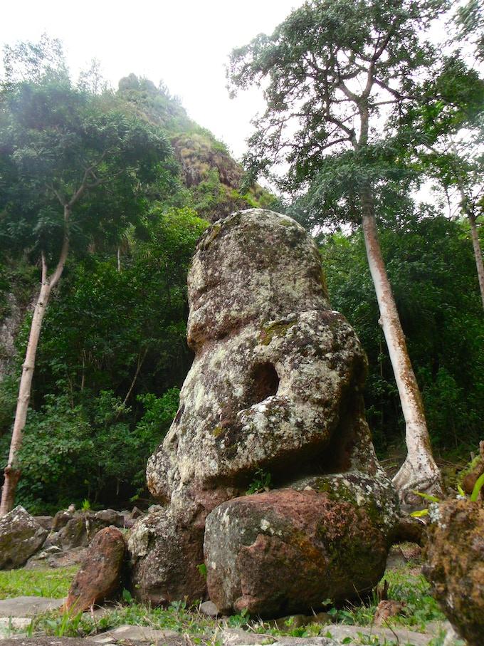 Tiki statue at Me'ae Oipona, Hiva Oa (photo by A. Edwards)